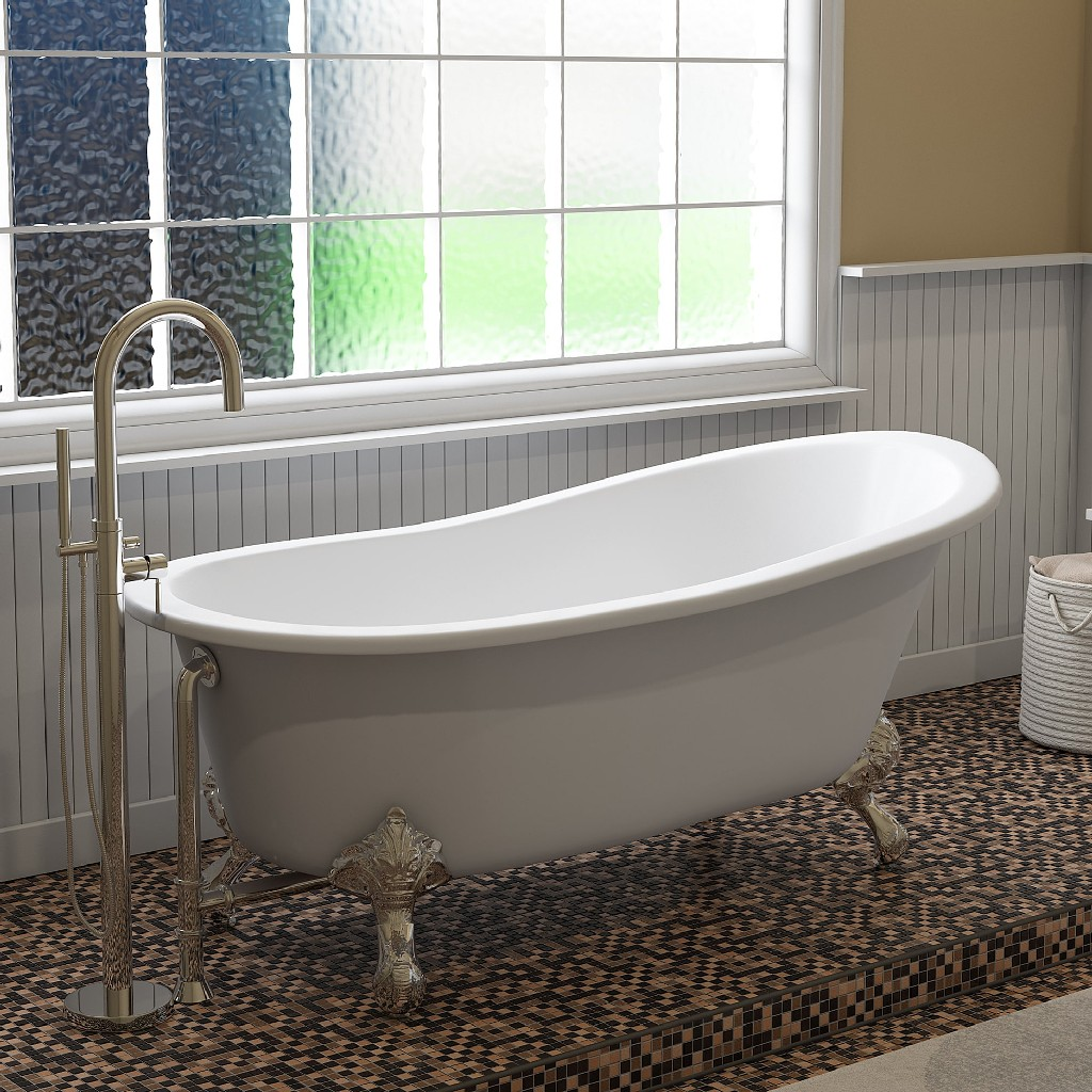 Plumbing | Slipper | Faucet | Shower | Polish | Modern | Chrome | Iron | Tub | No