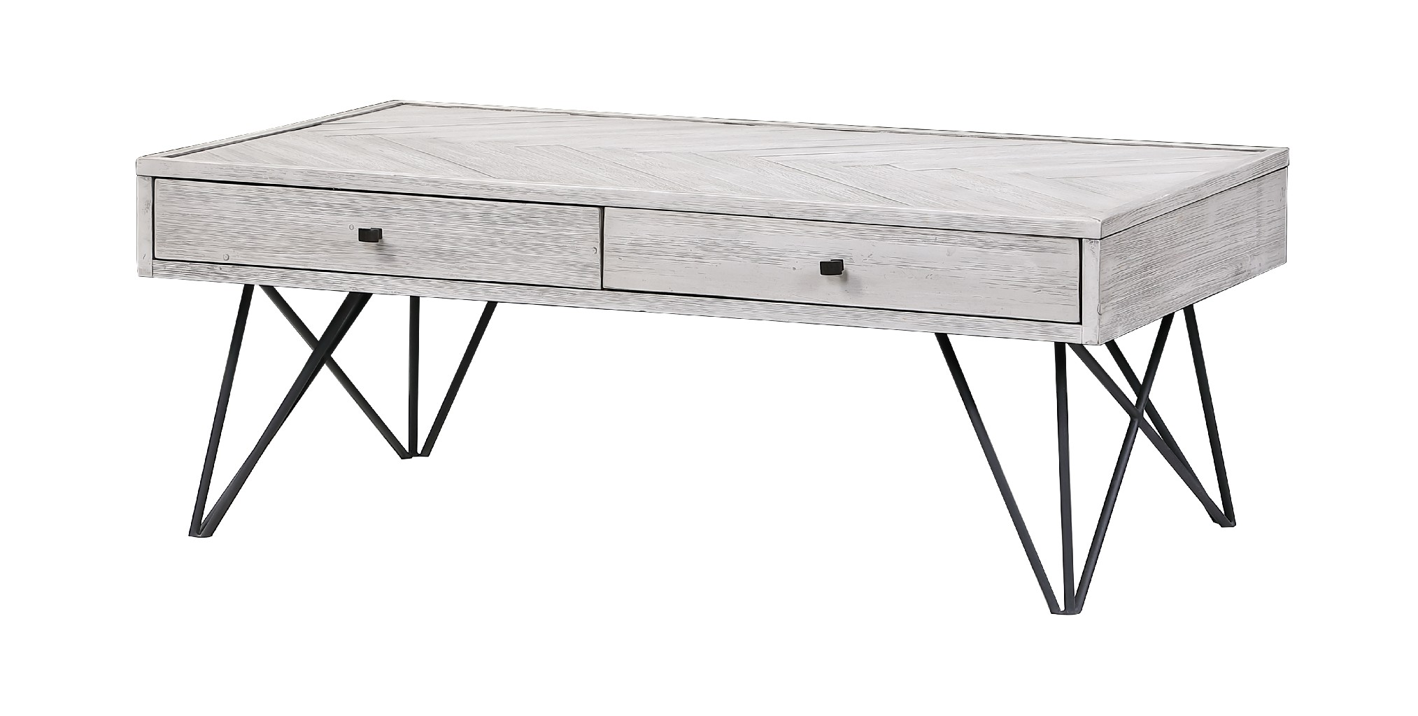 Aspen Court II Two Drawer Cocktail Table - Coast to Coast Imports 48202