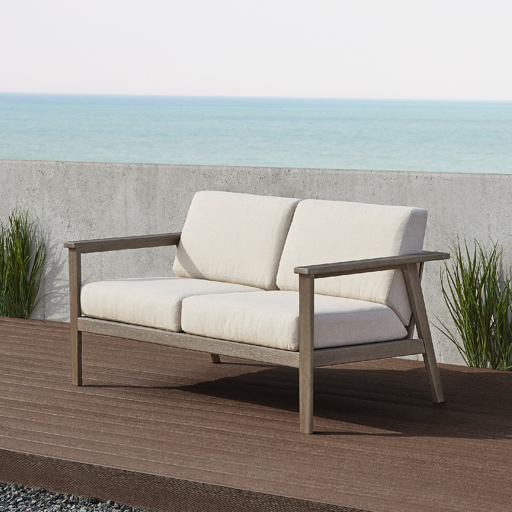 Speer Two Seat Bench in Gray Wash - Real Flame 2015-GRW