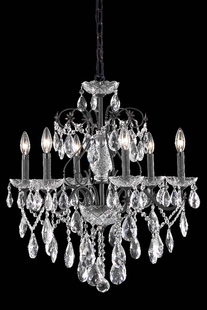 Elegant Lighting Light Dark Bronze Chandelier Clear Spectra Swarovski Crystal