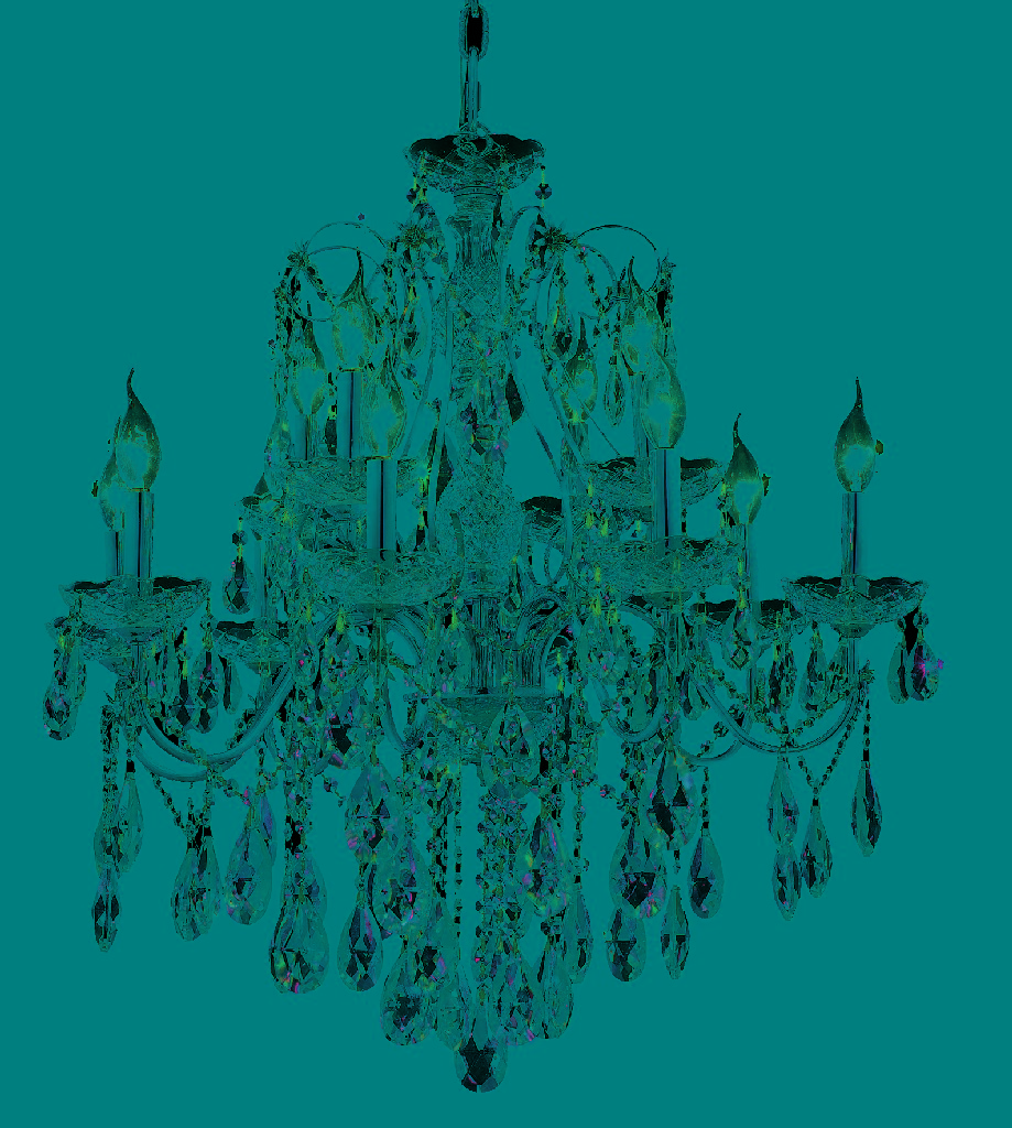 Elegant Lighting Light Chrome Chandelier Clear Royal Cut Crystal