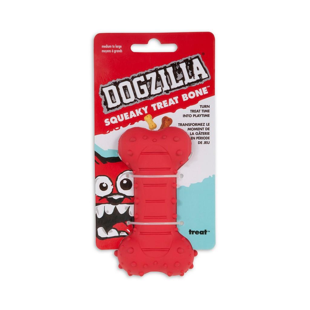DOGZILLA SQUEAKY TREAT BONE MEDIUM - Petmate 52054