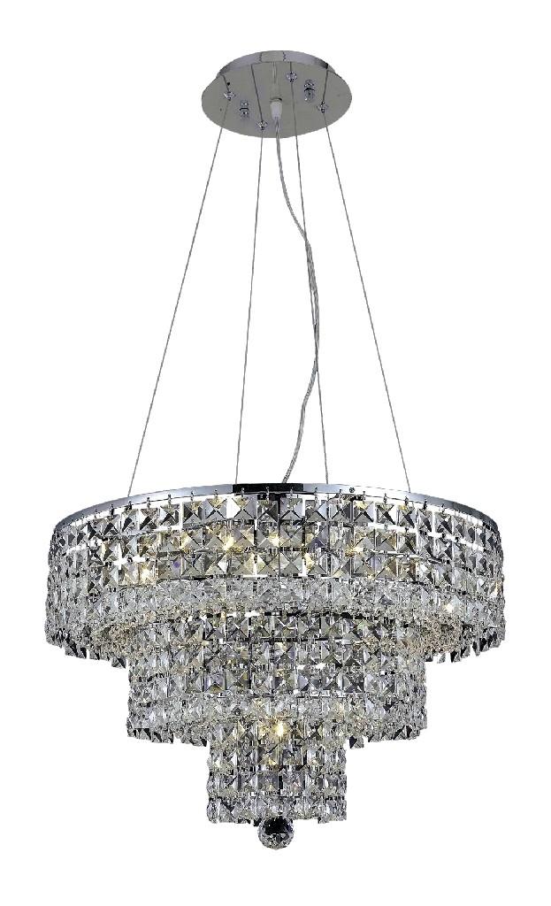 Elegant Lighting Light Chrome Chandelier Clear Royal Cut Crystal