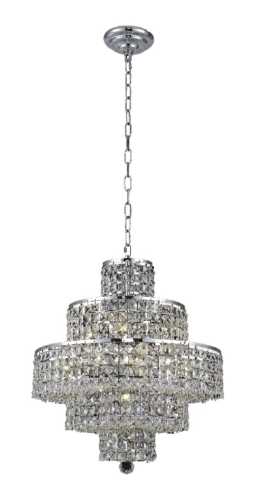 Lighting Furniture Chrome Chandelier Light Swarovski Photo