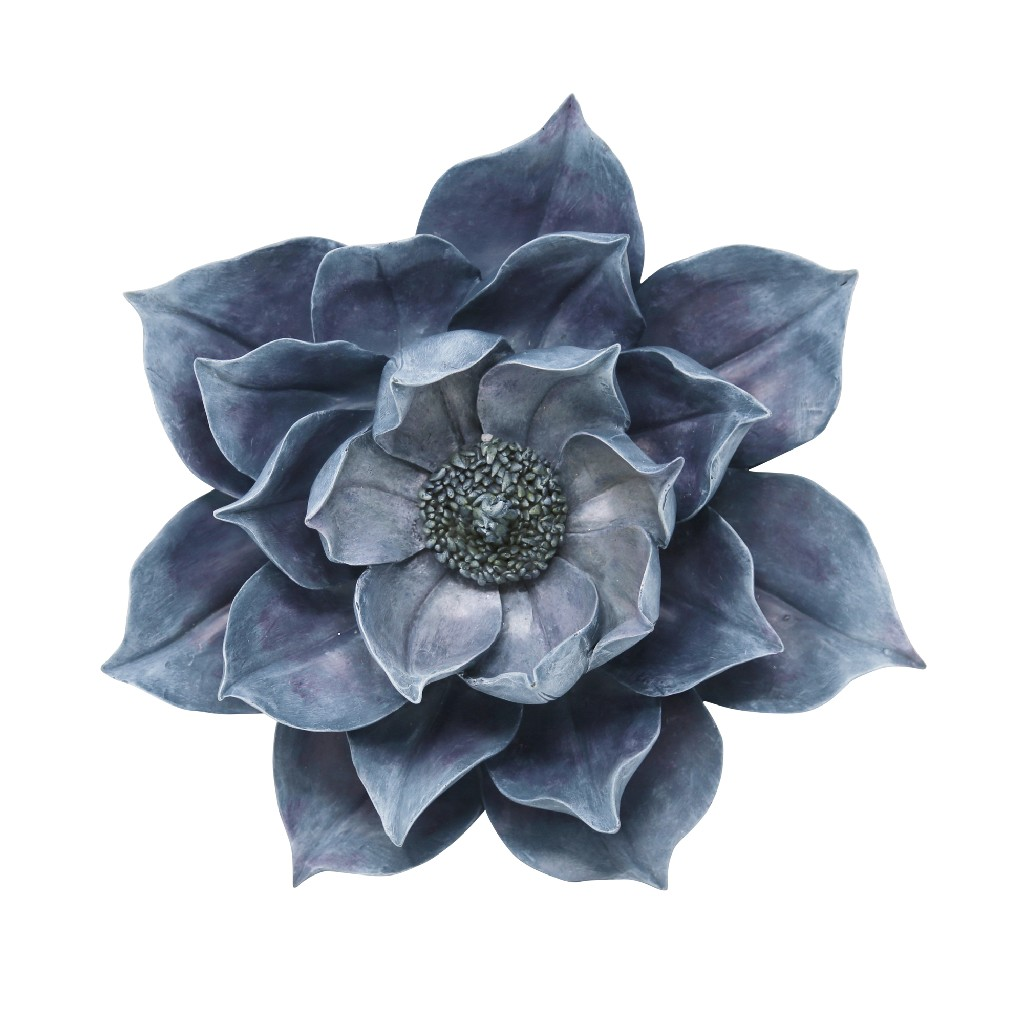 "Blue Lotus Wall Flower 14.25"" - Sagebrook Home 13007-03"