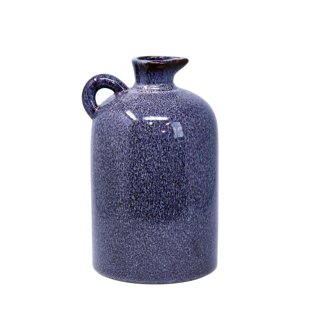 "Ceramic 10.25"" Pitcher, Burgburgundy - Sagebrook Home 13971-03"