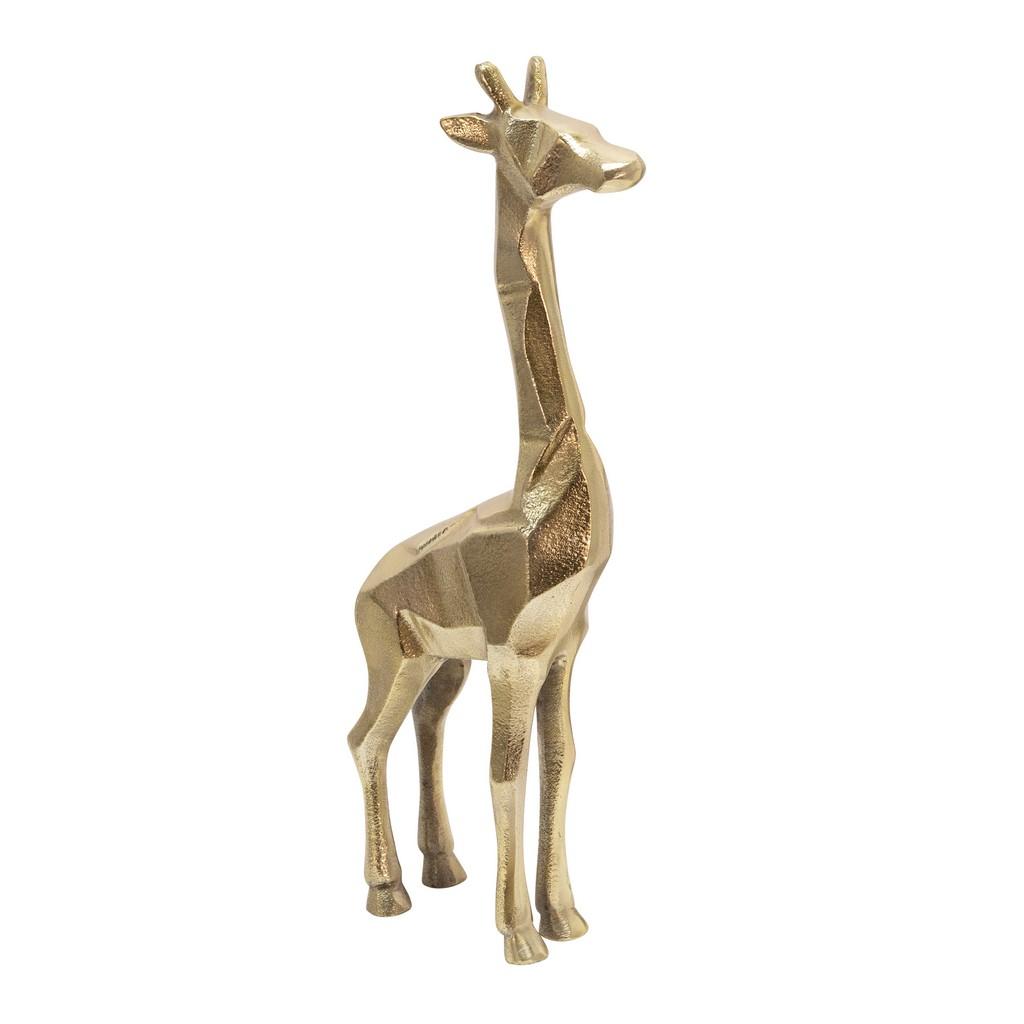 """Aluminum 15"""" Giraffe Decor, Gold - Sagebrook Home 14220-01"""
