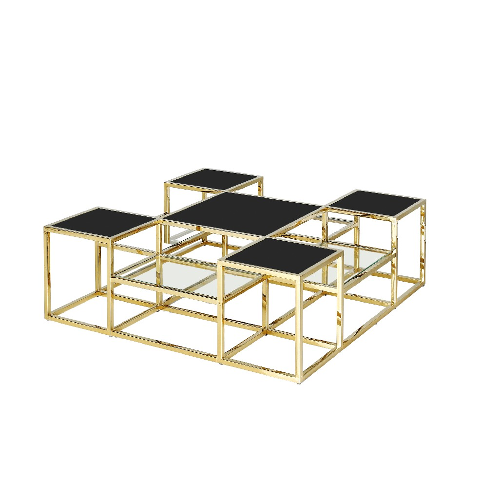 Stainless   Cocktail   Steel   Glass   Black   Home   Gold