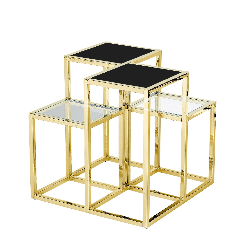 Sagebrook Home Steel Accent Table Glass
