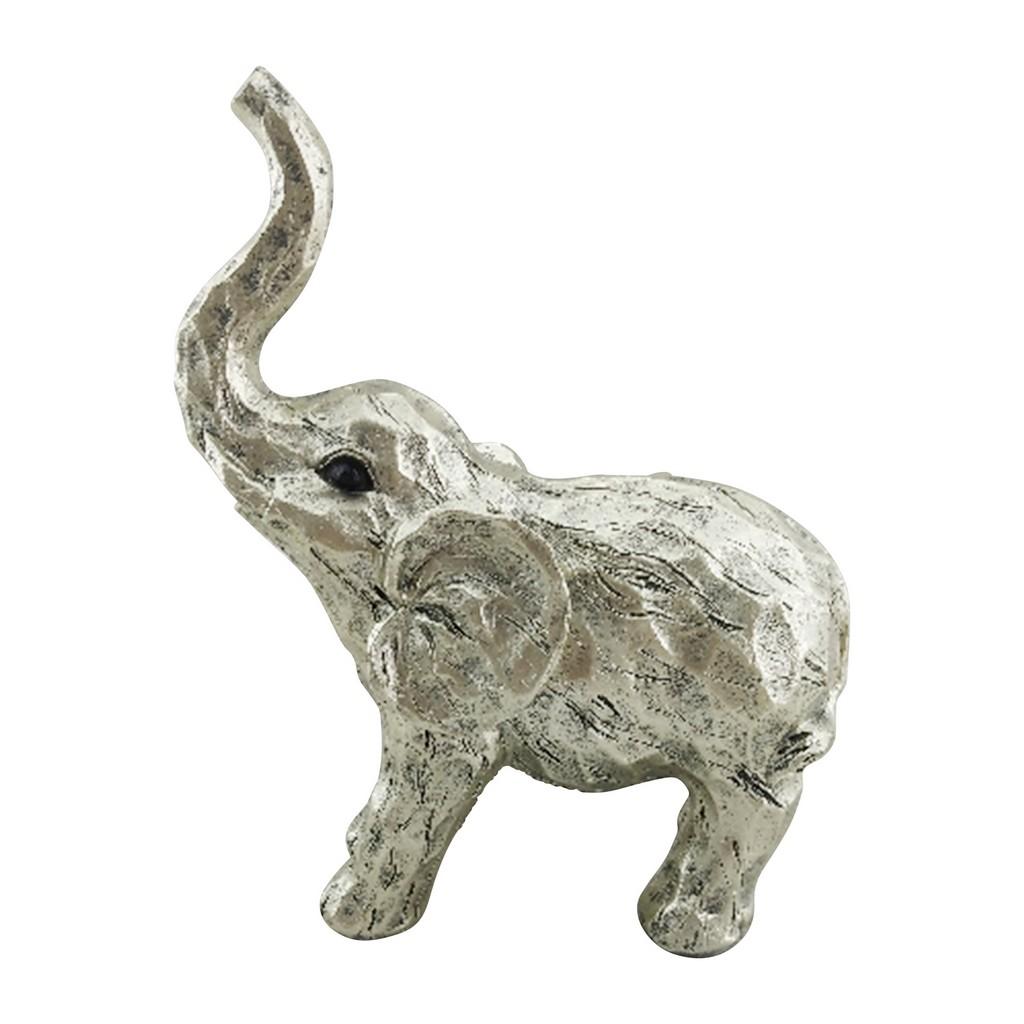 "11"" Elephant Figurine , Gold - Sagebrook Home 14876-03"