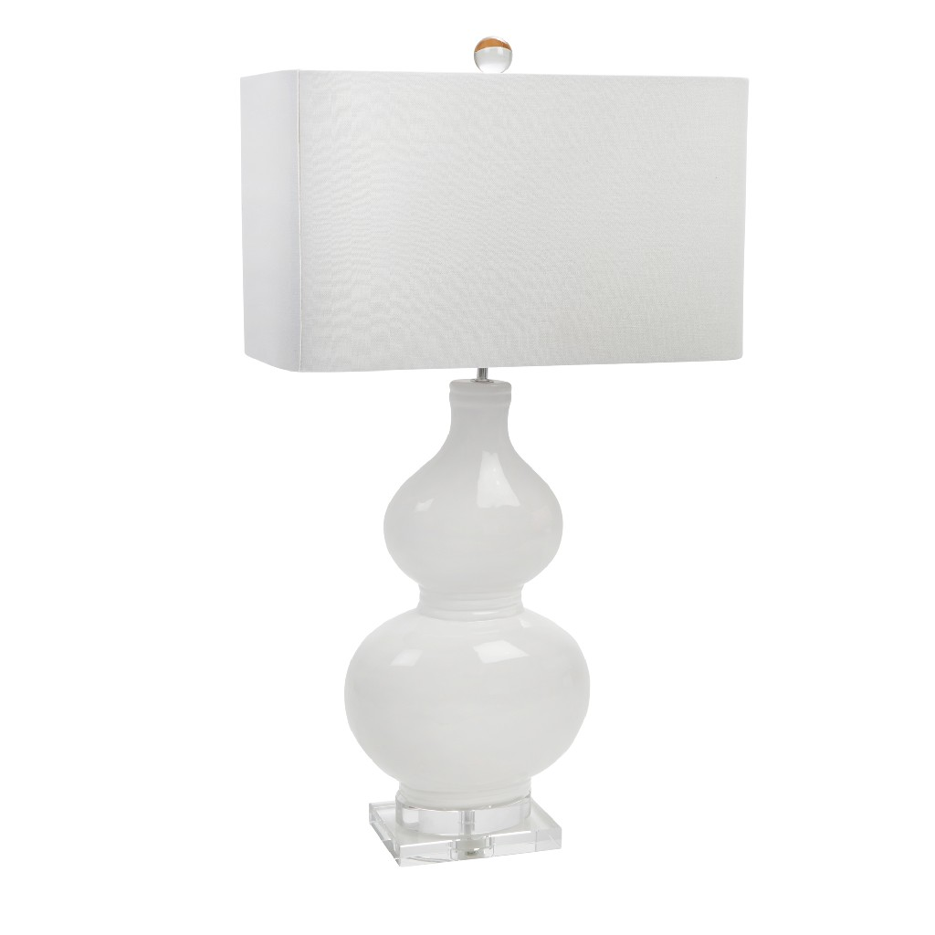 Ceramic | Crystal | Table | White | Lamp | Home