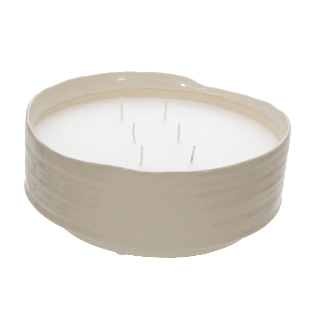 """10"""" 1 Wick. Low Bowl, Citronella Candle, 2 Asst - Sagebrook Home 80075"""