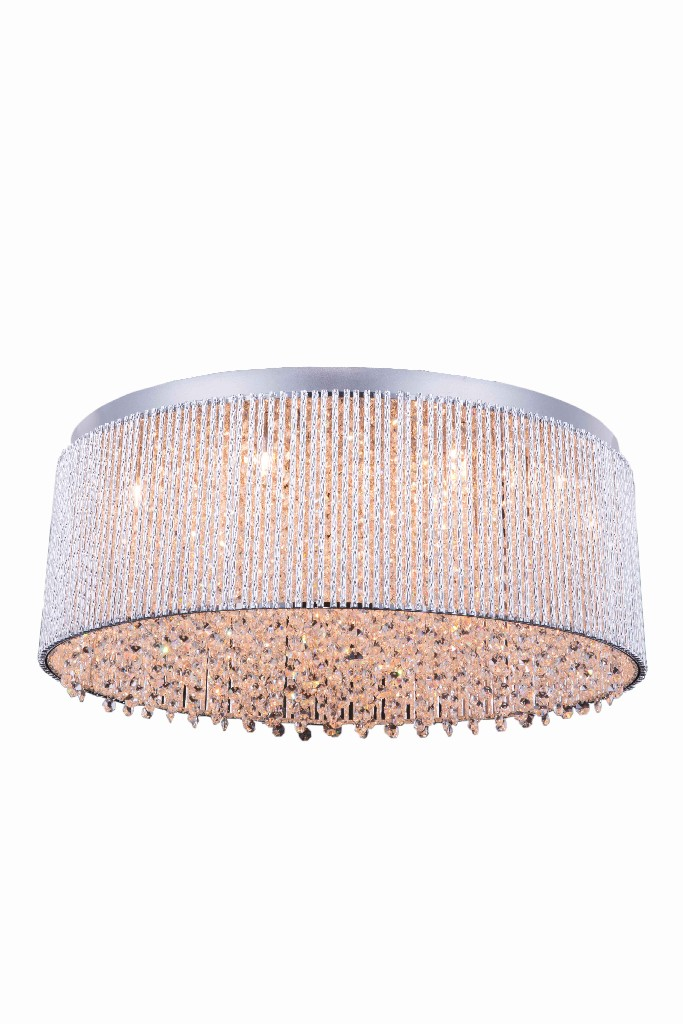 Elegant Lighting Influx Light Chrome Flush Mount Clear Royal Cut Crystal