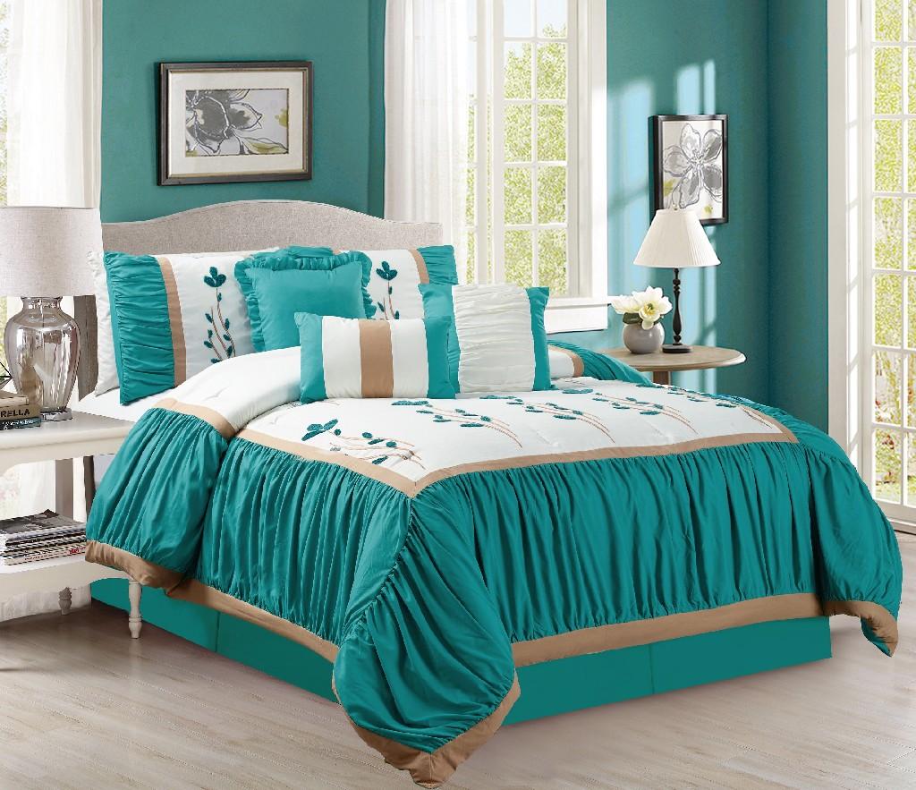 Emma 7-PC King Comforter Set - Elight Home 21057K