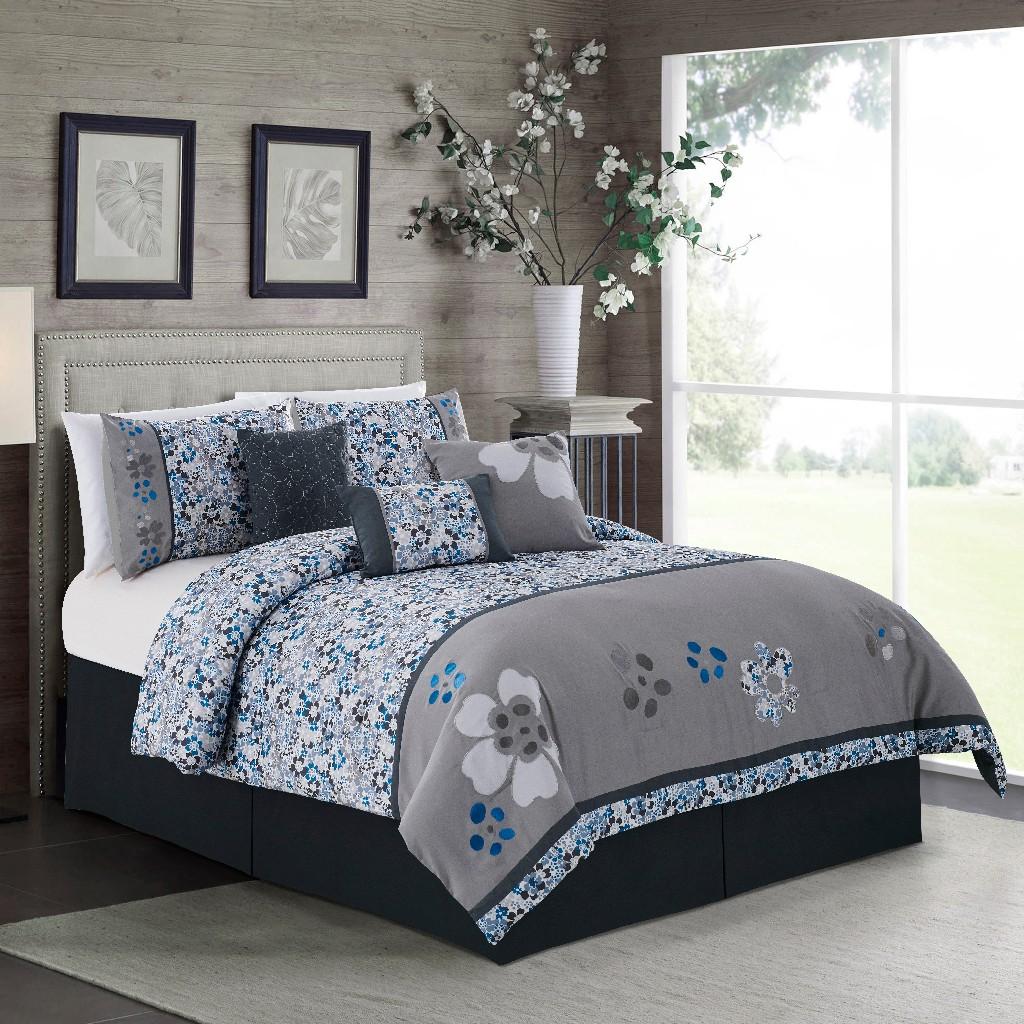 Daisy 7-PC King Comforter Set - Elight Home 21062Q