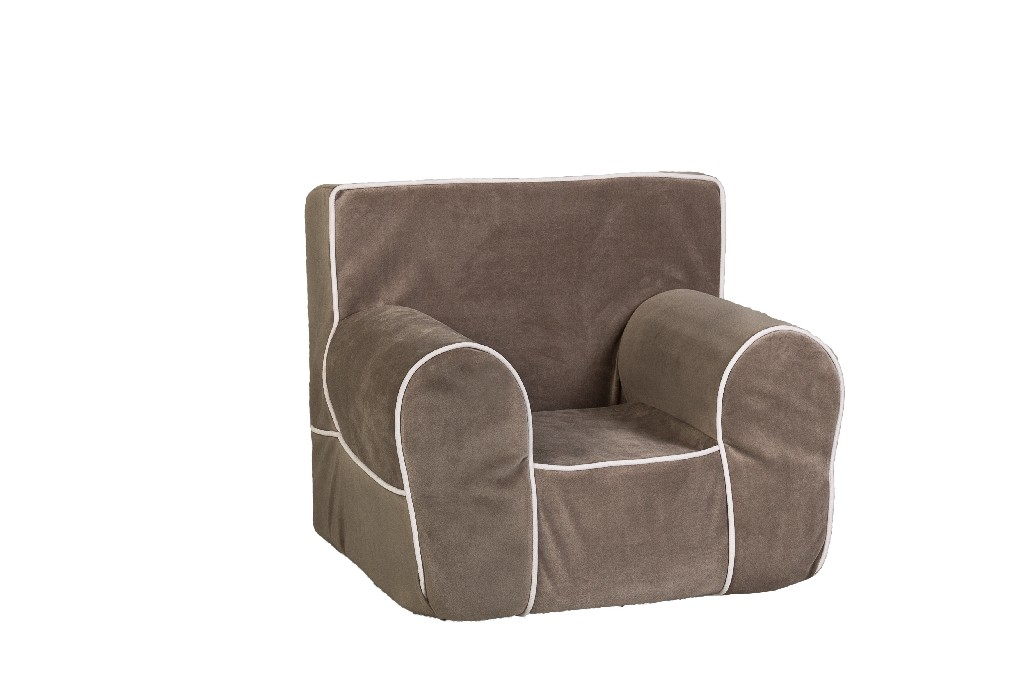 All Mine Personalized Kids Chair in Gray - Leffler Home 14000-21-21-03