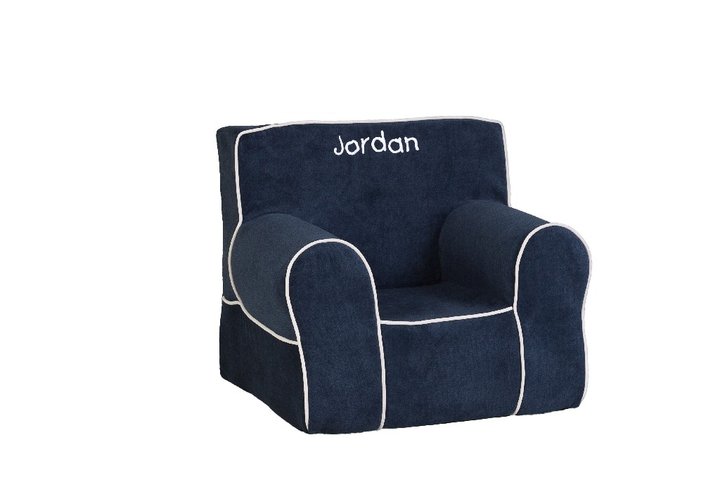 All Mine Personalized Kids Chair in Havana Sapphire - Leffler Home 14000-21-57-03