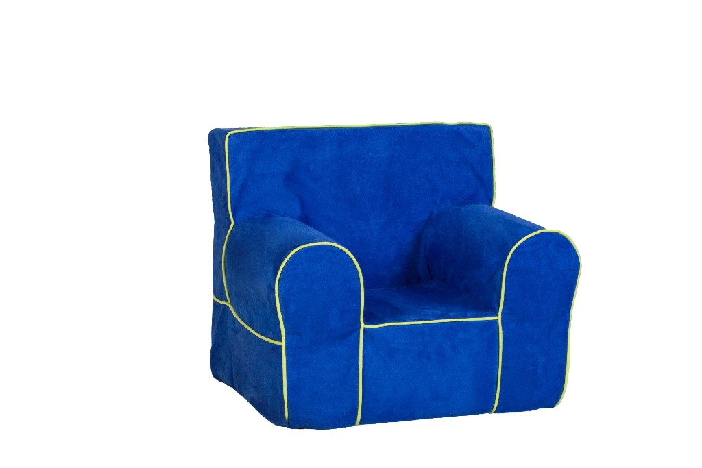 All Mine Personalized Kids Chair in Montana Ocean Blue - Leffler Home 14000-21-59-03