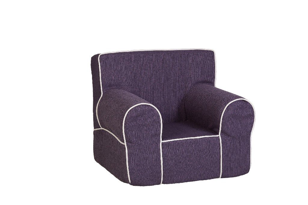All Mine Personalized Kids Chair in Stallion Purple - Leffler Home 14000-21-62-03