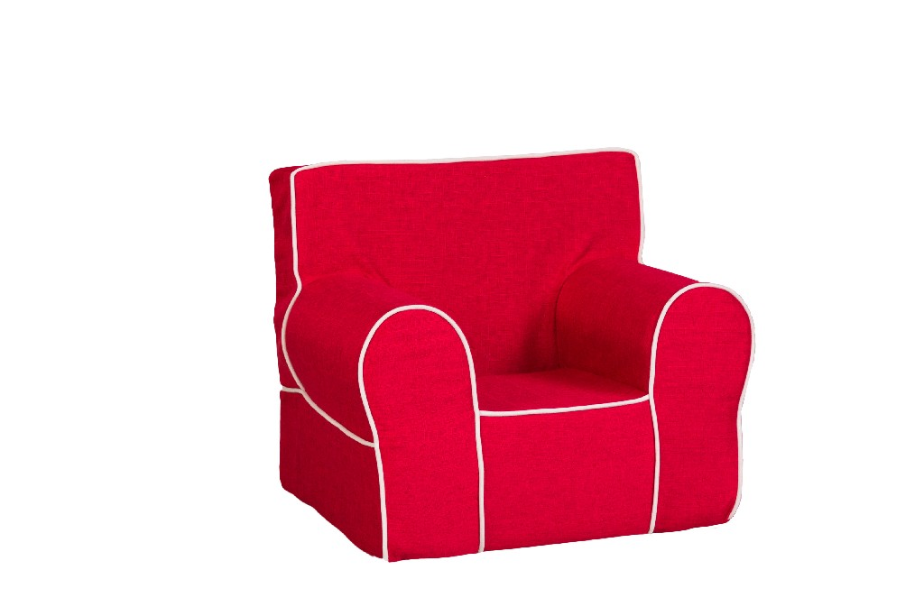 All Mine Personalized Kids Chair in Urban Red - Leffler Home 14000-21-63-03