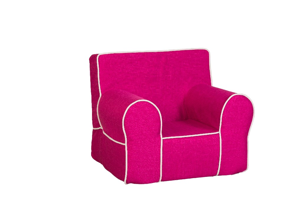 All Mine Personalized Kids Chair in Urban Raspberry - Leffler Home 14000-21-64-03