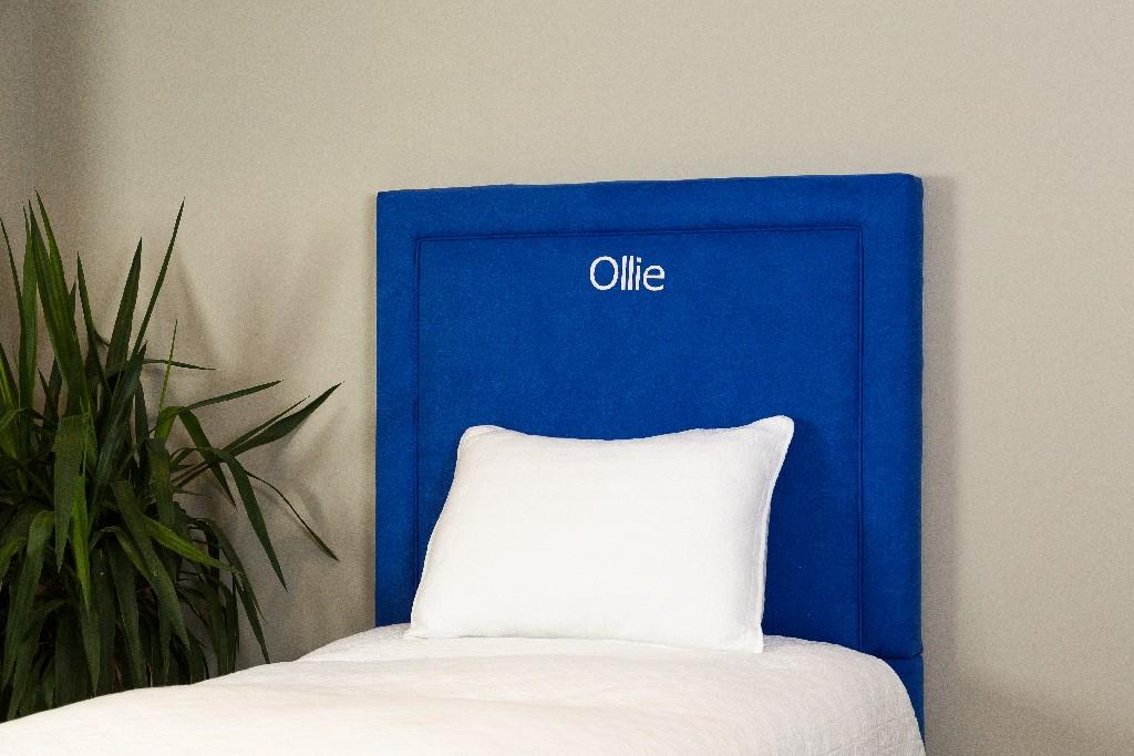 All Mine Personalized Twin Upholstered Headboard in Montana Ocean Blue - Leffler Home 20000-21-59-03