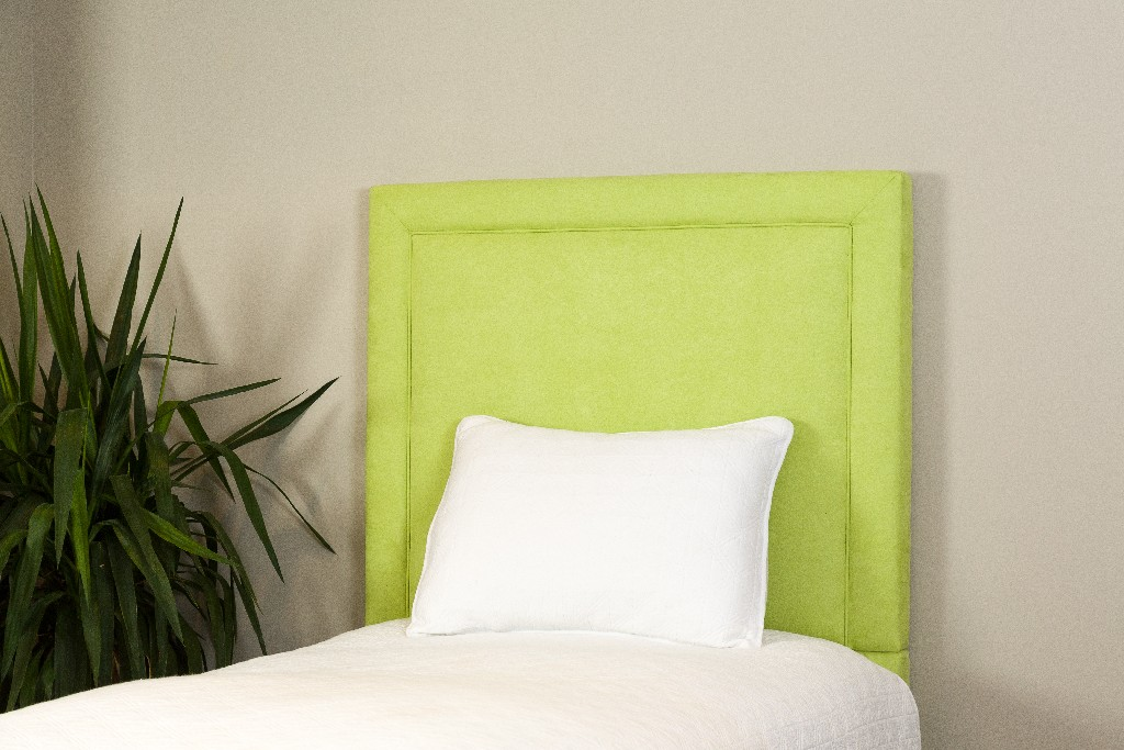All Mine Personalized Twin Upholstered Headboard in Montana Sour Apple - Leffler Home 20000-21-60-03
