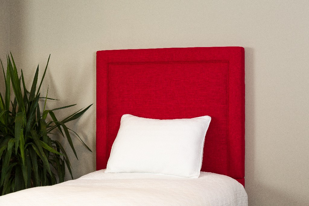 All Mine Personalized Twin Upholstered Headboard in Urban Red - Leffler Home 20000-21-63-03