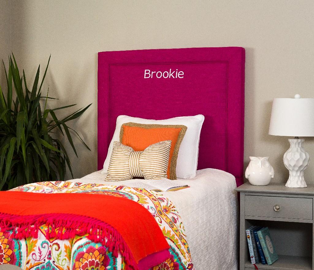 All Mine Personalized Twin Upholstered Headboard in Urban Raspberry - Leffler Home 20000-21-64-03