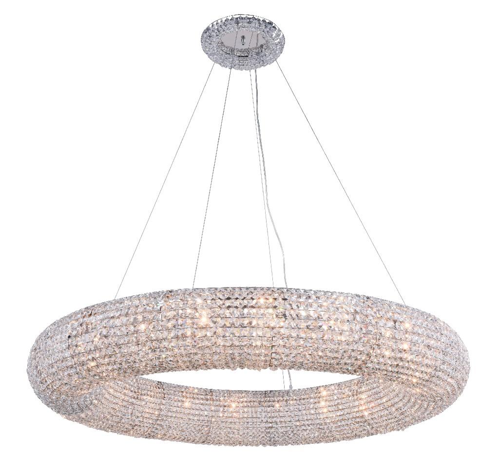 Elegant Lighting Paris Light Chrome Chandelier Clear Royal Cut Crystal