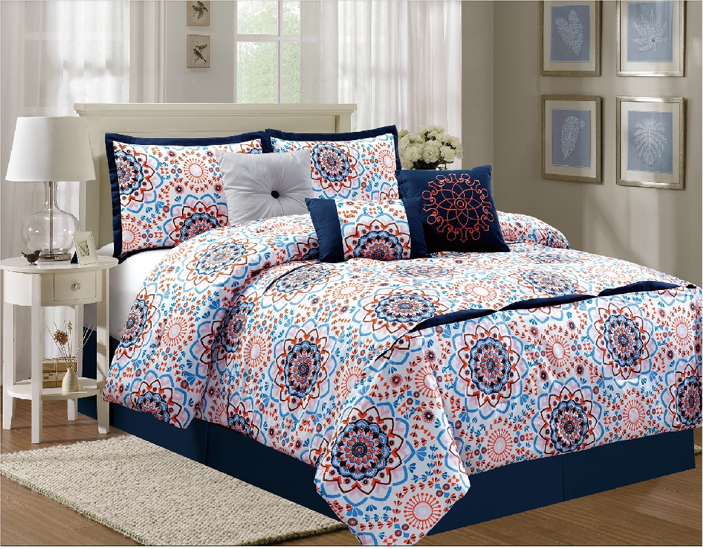 Delcie Queen Comforter Set - Elight Home 21158Q