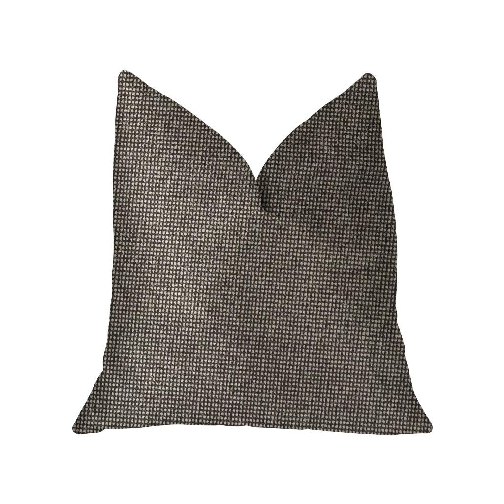 Abigail Charcoal Luxury Throw Pillow - Plutus PBKR1987