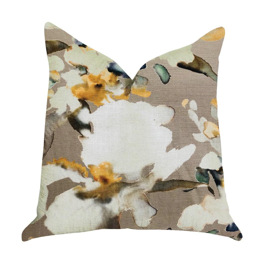 Pillow | Floral | Color | Aqua