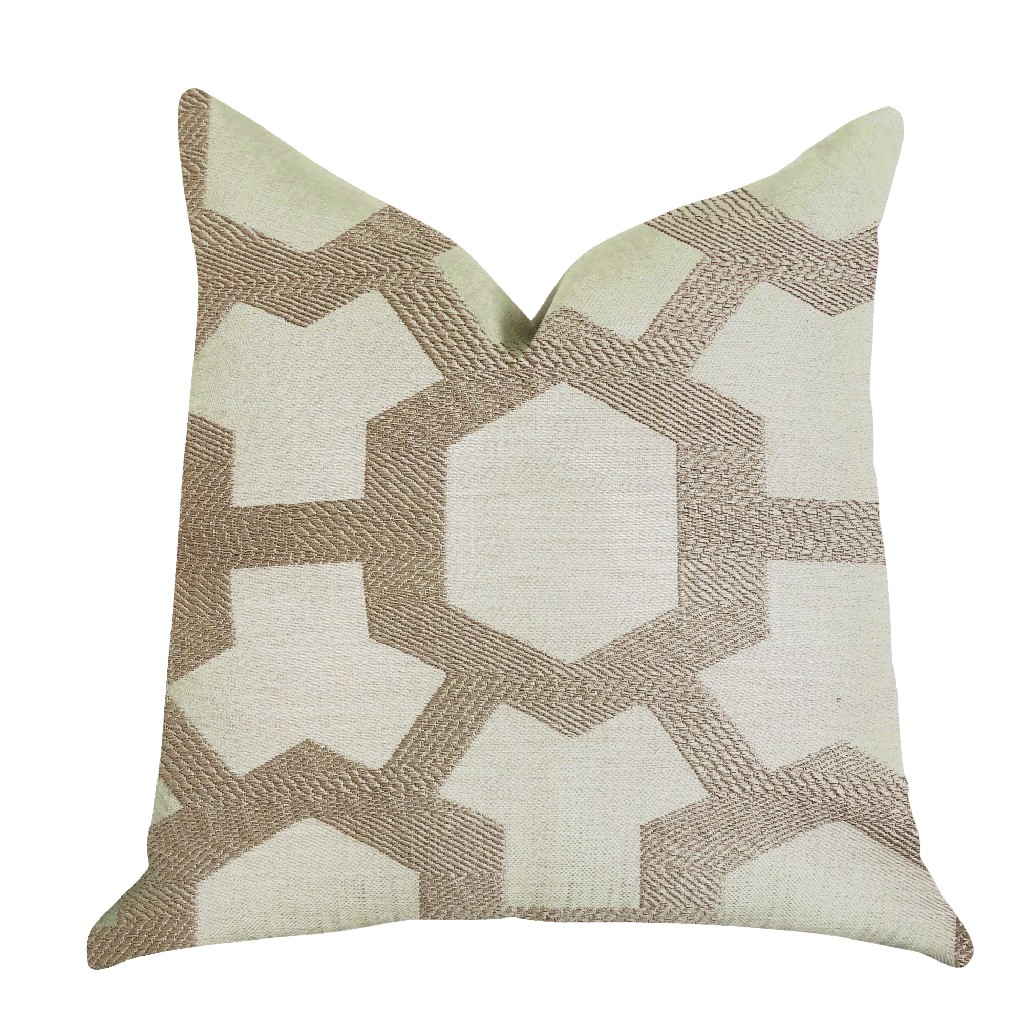Linked Charisma Luxury Throw Pillow In Beige And Brown Tones Plutus Pbra1389 1818 Dp