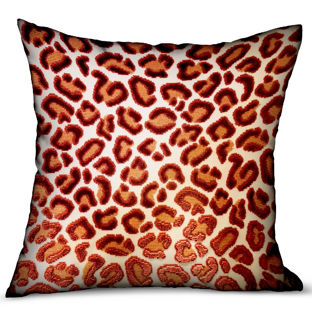 Animal | Velvet | Pillow | Red