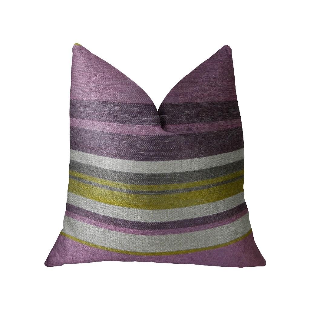 Acai Crush Berry Olive and Cream Handmade Luxury Pillow - Plutus PBRAZ268