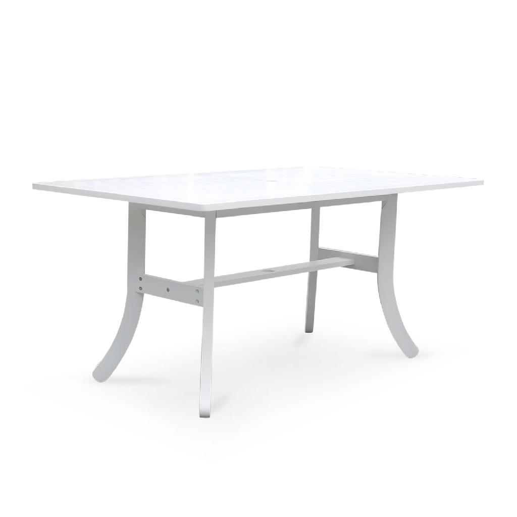 Bradley Outdoor Rectangular Dining Table w/ Curvy Legs - Vifah V1337