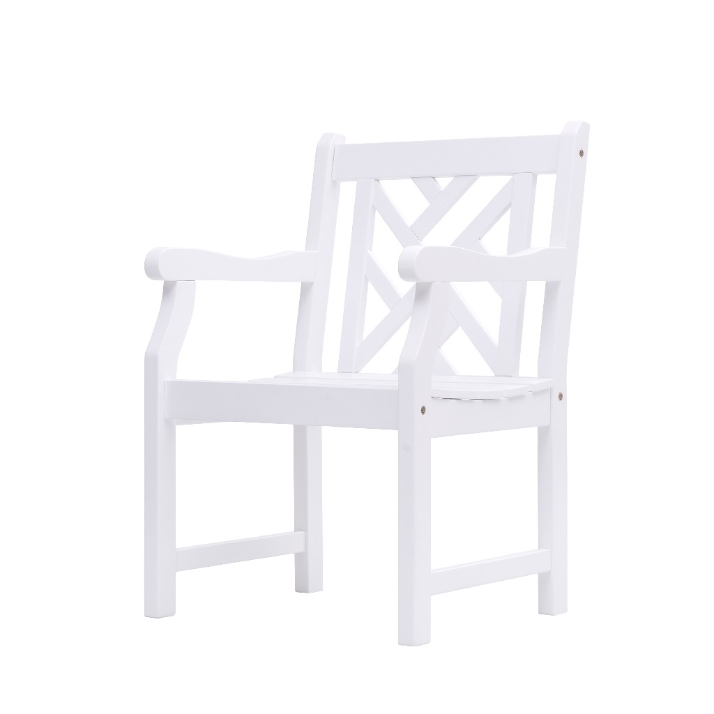 Bradley Outdoor Garden Armchair in White - Vifah V1338