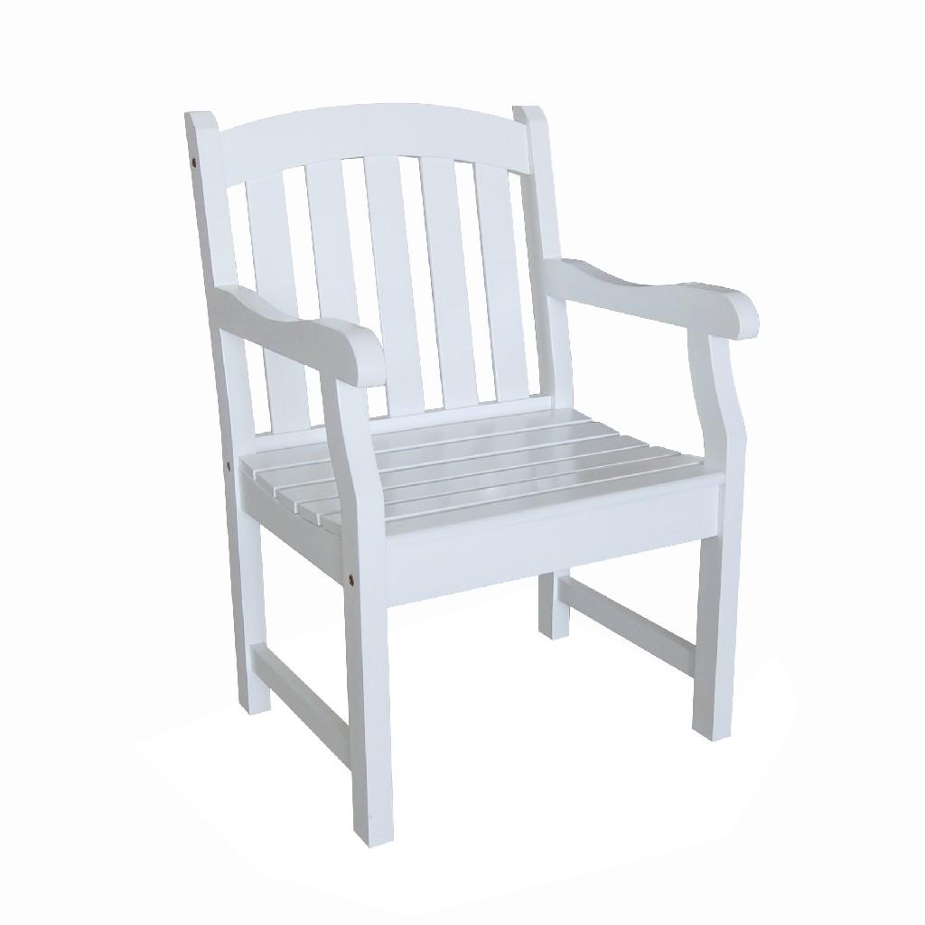 Bradley Outdoor Garden Armchair in White - Vifah V1339