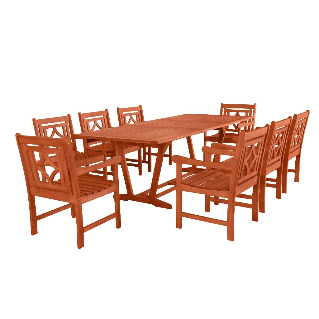 Outdoor | Patio | Table | Wood | Dine | Set