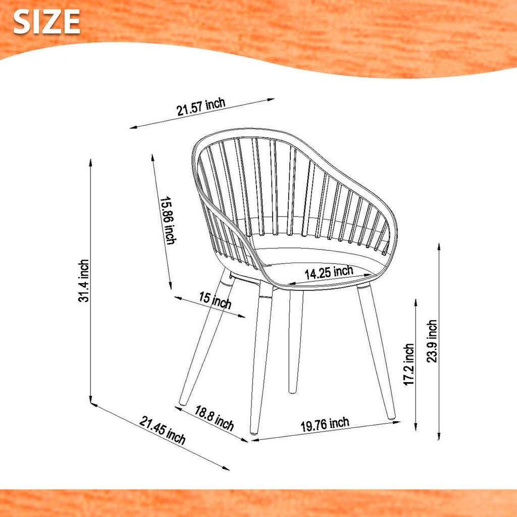 Amazonia 2-Piece Chairs Set - International Home SC 2CANNES WH_WH PAR