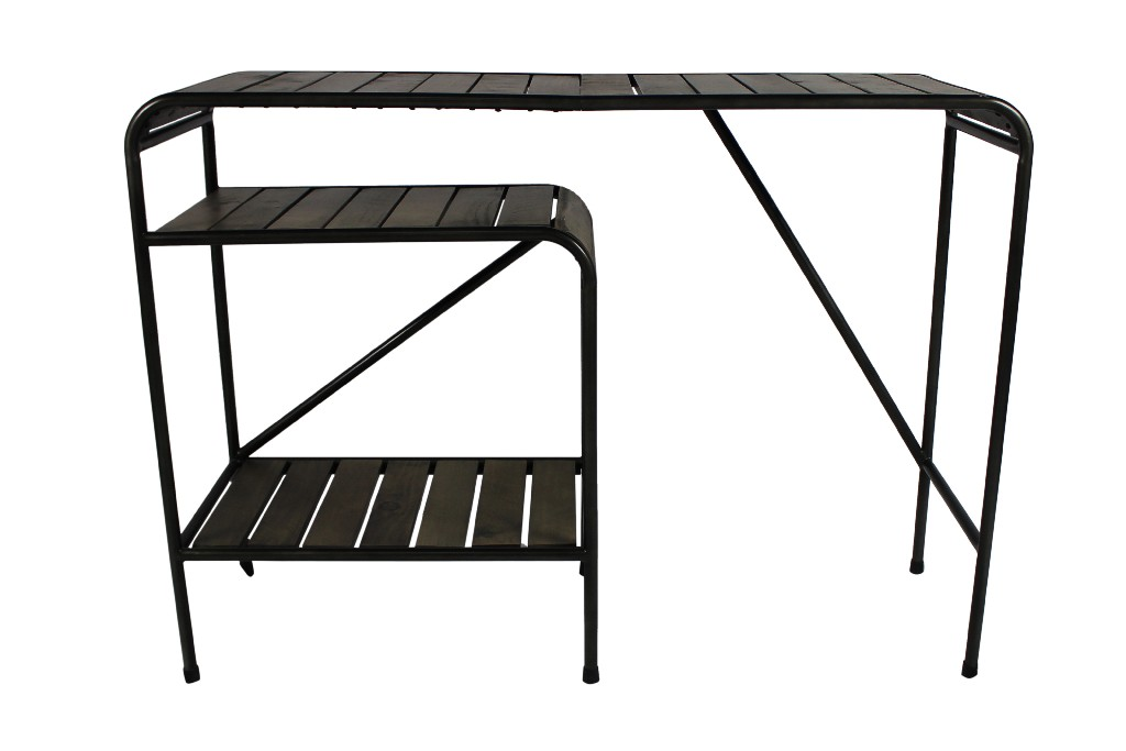 Benson Console Table in Brown and Black - MEVA 17005001