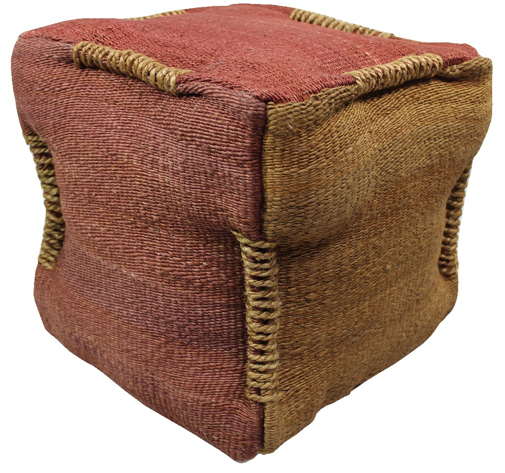 Anand Pouf in Rose and Orange - MEVA 54011013