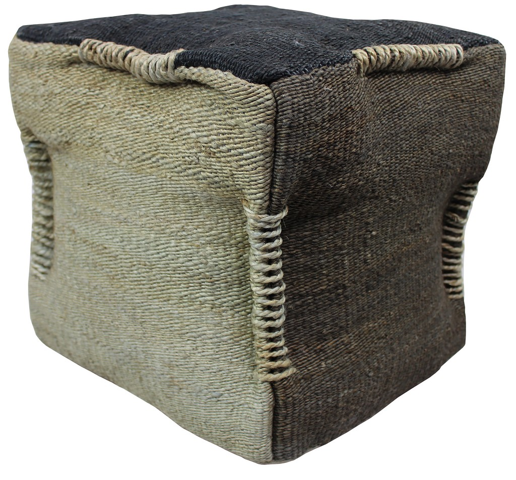 Anand Pouf In Taupe And Beige - MEVA 54011015