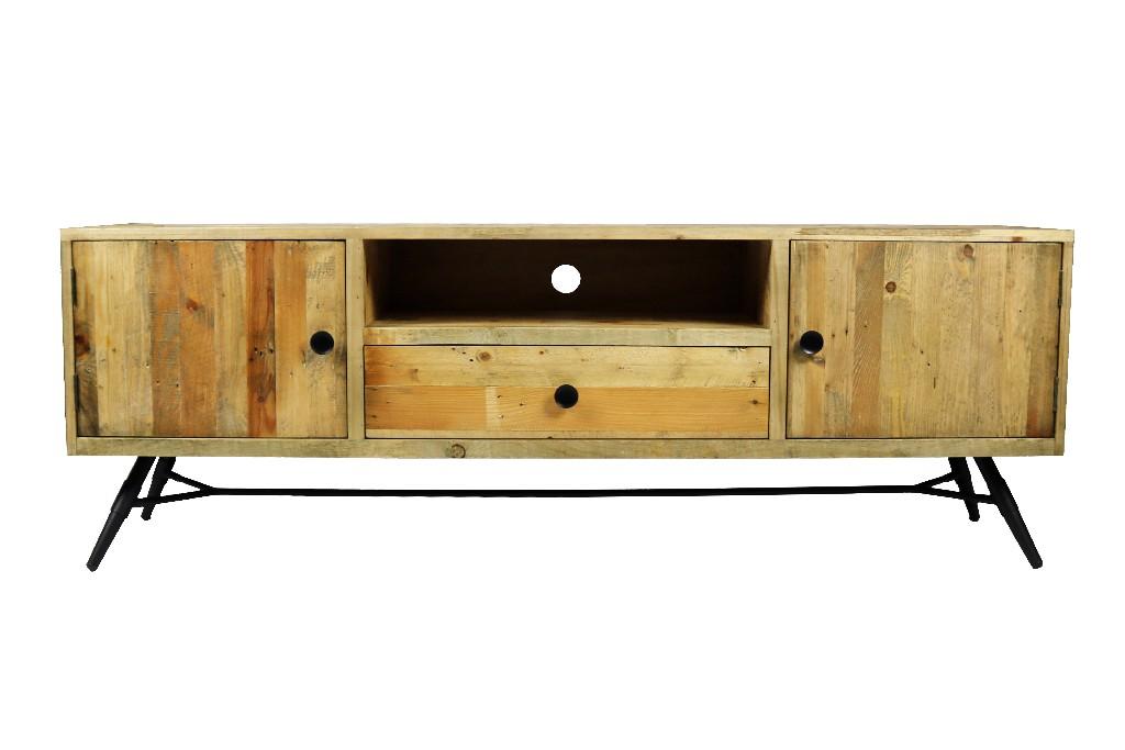 Harbor 1 Drawer, 2 Door Media Stand in Natural - MEVA 58018001