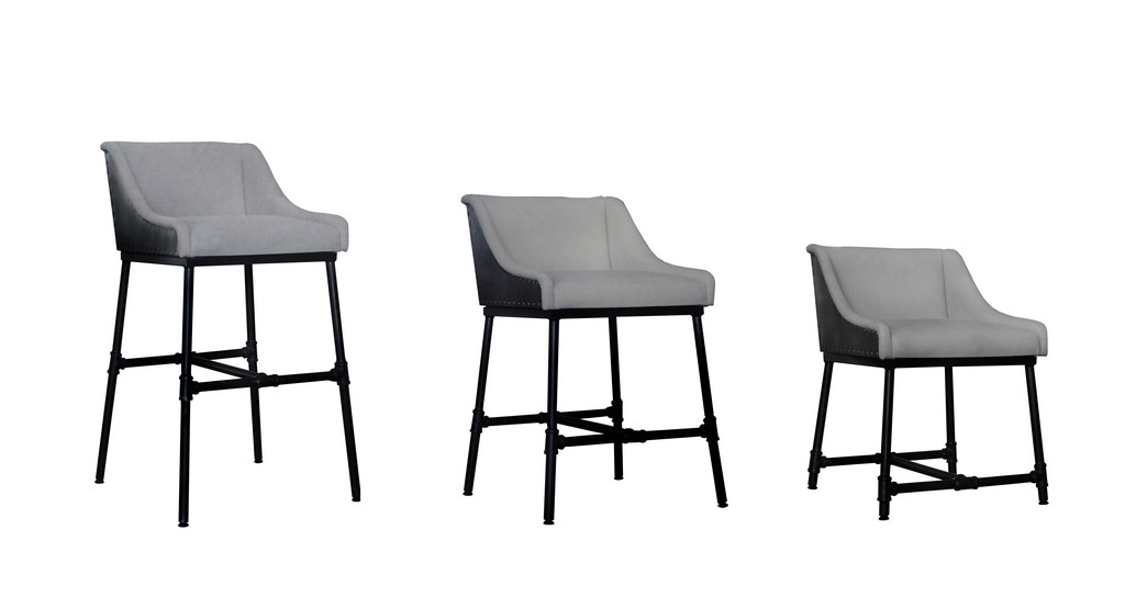 Aliso Morgan Light Grey Adjustable 3 in One Chair (Dine, Bar and Counter) - MEVA 69011001