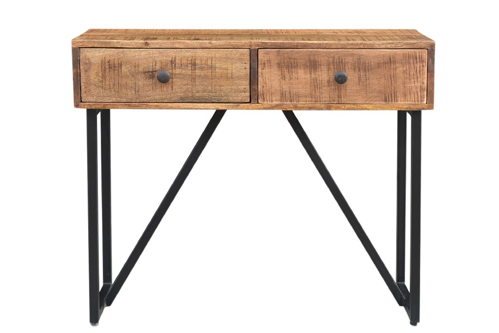Anaheim 2 Drawer Console Table in Natural - MEVA 72005005