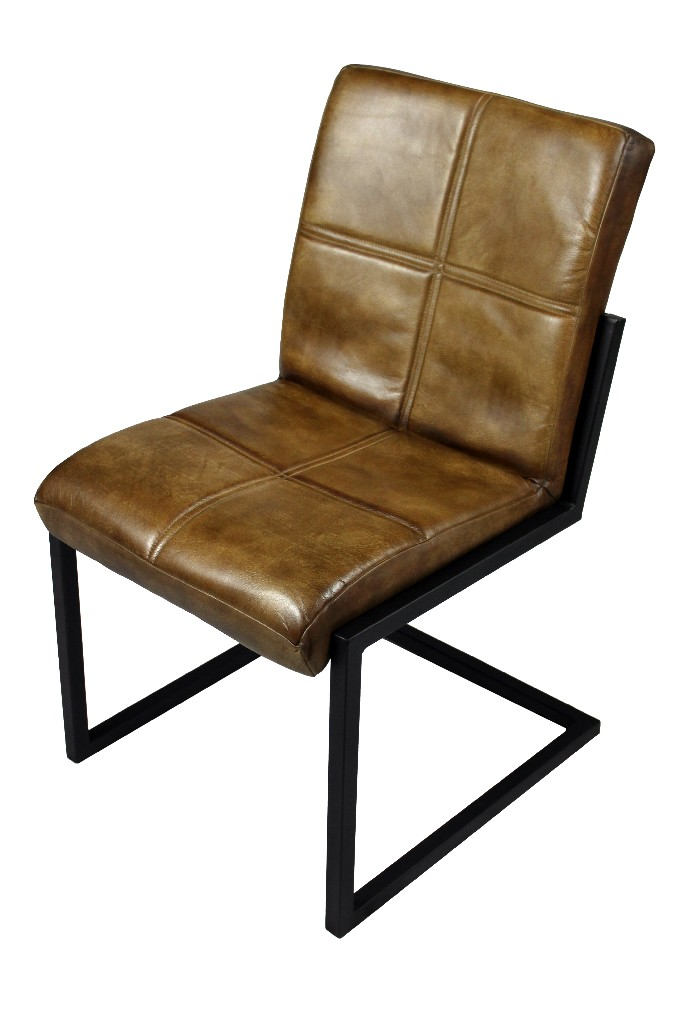 Clayton Chestnut Side Chair in Brown - MEVA 94011047