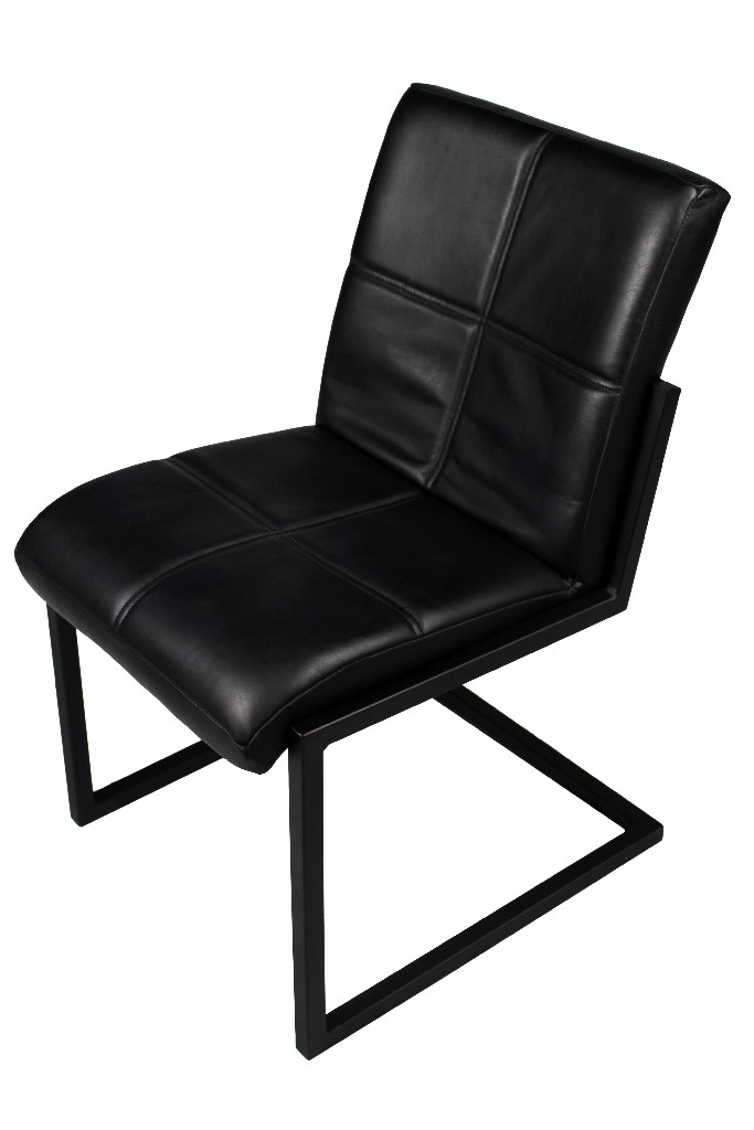 Clayton Ebony Side Chair in Black - MEVA 94011048