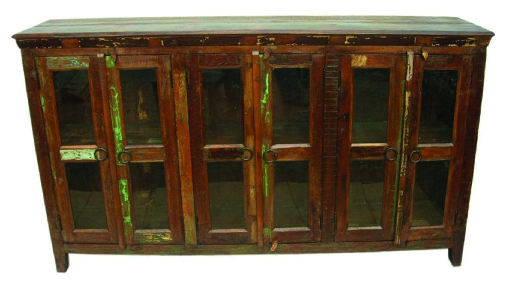Beach Buffet 6 Glass Doors in Brown - MEVA 99009007